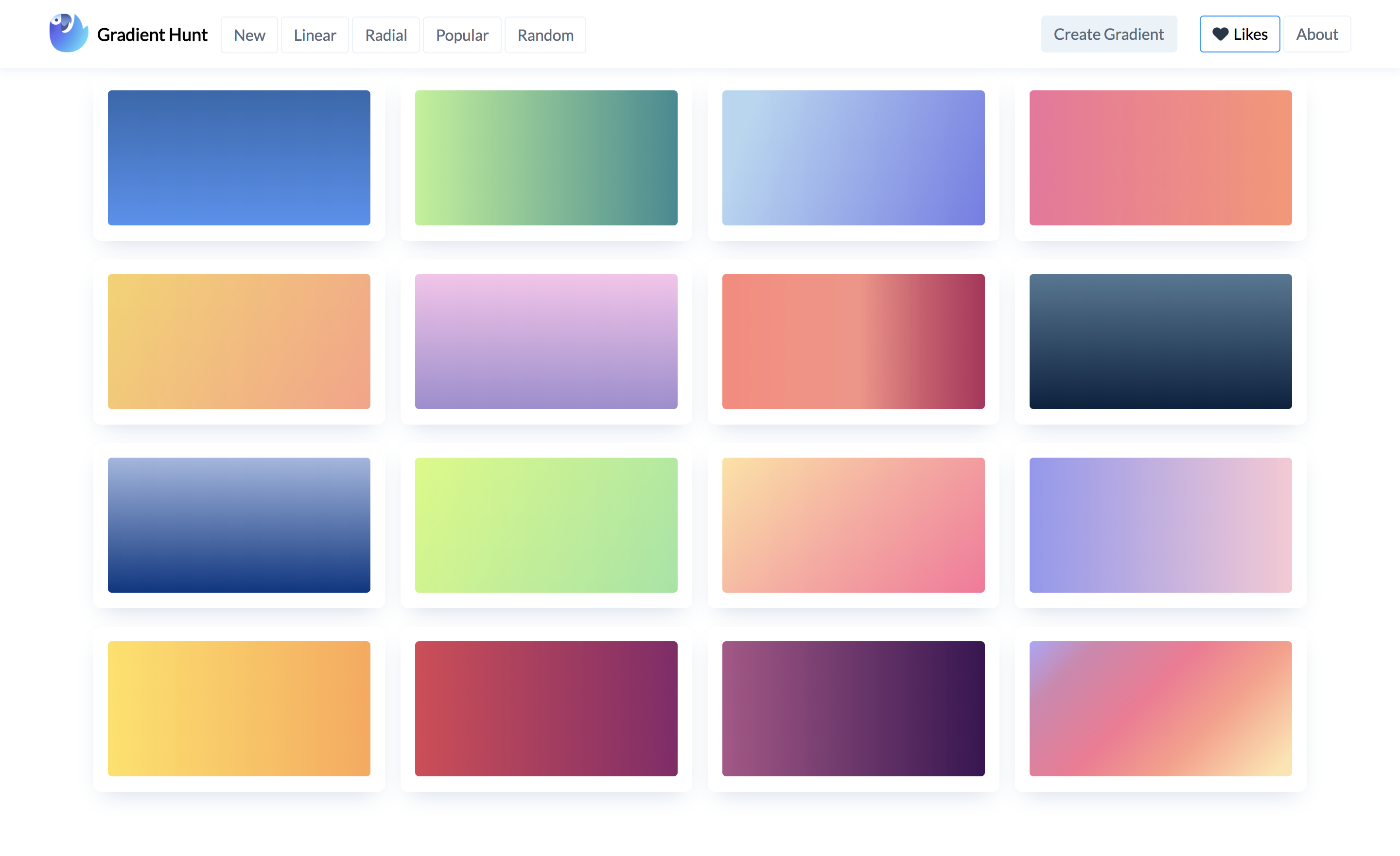 Gradient Hunt - Beautiful Color Gradients